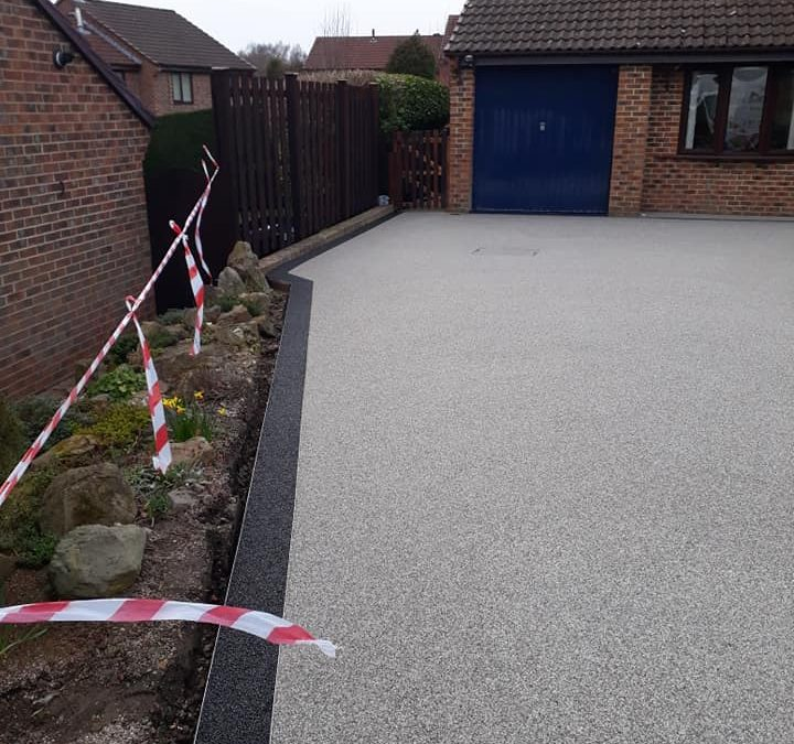 New Resin Driveway, Lanchester, Durham, March 2019